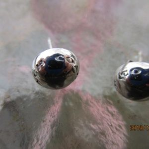 Coach Silver Rivet Stud Earrings